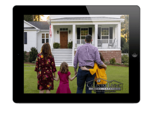 Tablet showing Country Living commercial